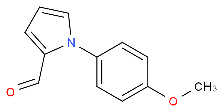 1-(4-methoxyphenyl)-1H-pyrrole-2-carbaldehyde_分子结构_CAS_30186-36-8