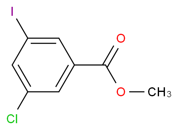 methyl 3-chloro-5-iodobenzoate_分子结构_CAS_289039-85-6