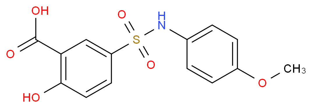2-hydroxy-5-[(4-methoxyphenyl)sulfamoyl]benzoic acid_分子结构_CAS_92200-76-5