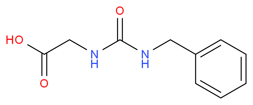 {[(benzylamino)carbonyl]amino}acetic acid_分子结构_CAS_34582-41-7)