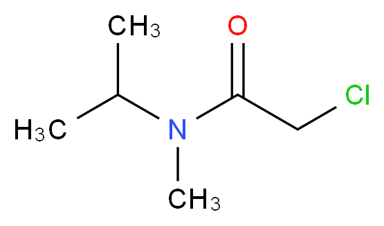 2-Chloro-N-isopropyl-N-methylacetamide_分子结构_CAS_39086-71-0)