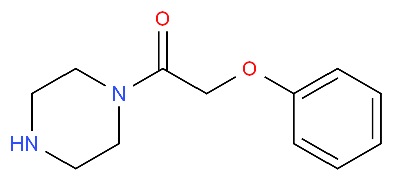 2-phenoxy-1-(piperazin-1-yl)ethan-1-one_分子结构_CAS_92114-37-9