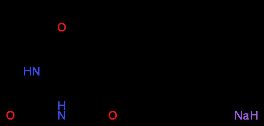 异戊巴比妥 钠盐 溶液_分子结构_cas_)