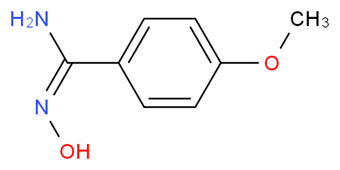(E)-N'-hydroxy-4-methoxybenzene-1-carboximidamide_分子结构_CAS_5373-87-5