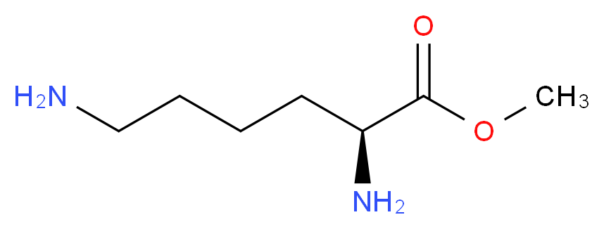 methyl (2S)-2,6-diaminohexanoate_分子结构_CAS_26348-70-9