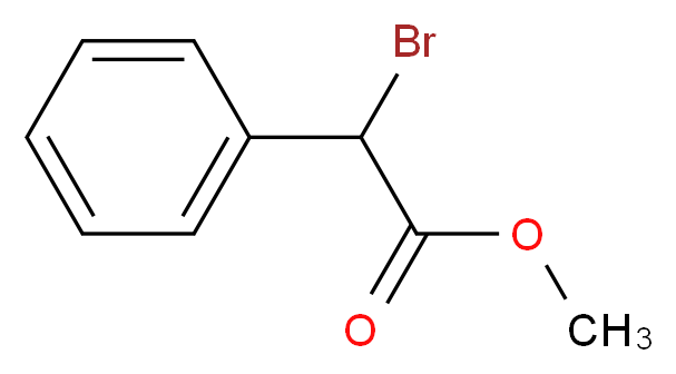 methyl 2-bromo-2-phenylacetate_分子结构_CAS_3042-81-7