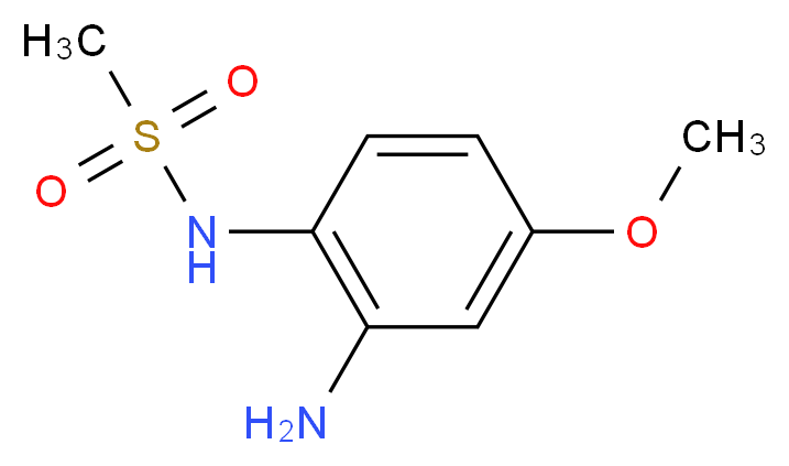 N-(2-amino-4-methoxyphenyl)methanesulfonamide_分子结构_CAS_92351-28-5