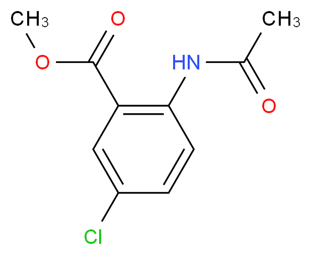 methyl 5-chloro-2-acetamidobenzoate_分子结构_CAS_20676-54-4