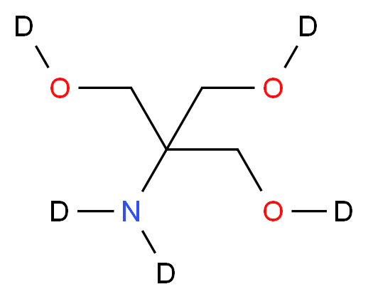 {1,3-bis[(<sup>2</sup>H)hydroxy]-2-{[(<sup>2</sup>H)hydroxy]methyl}propan-2-yl}(<sup>2</sup>H<sub>2</sub>)amine_分子结构_CAS_207802-44-6