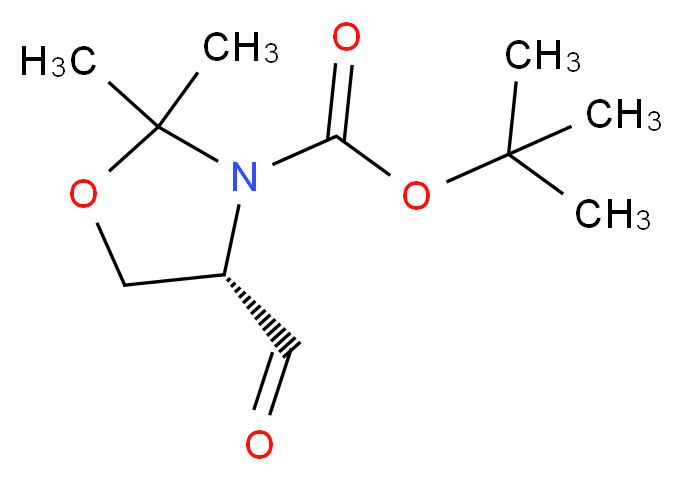 tert-butyl (s)-(-)-4-formyl-2,2-dimethyl-3-oxazolidinecarboxylate_分子结构_CAS_102308-32-7)