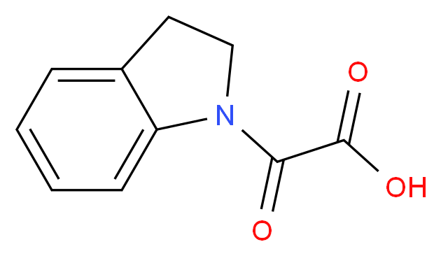 2,3-Dihydro-1H-indol-1-yl(oxo)acetic acid_分子结构_CAS_1018243-08-7)