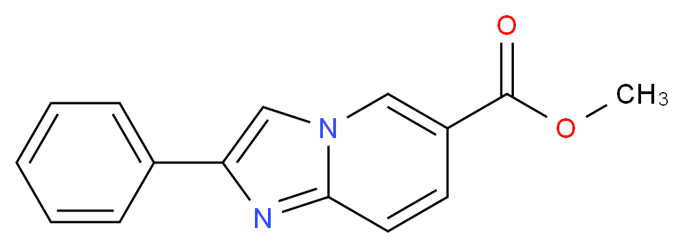 methyl 2-phenylimidazo[1,2-a]pyridine-6-carboxylate_分子结构_CAS_962-24-3