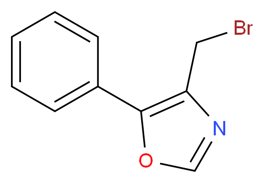 4-(bromomethyl)-5-phenyl-1,3-oxazole_分子结构_CAS_368869-94-7