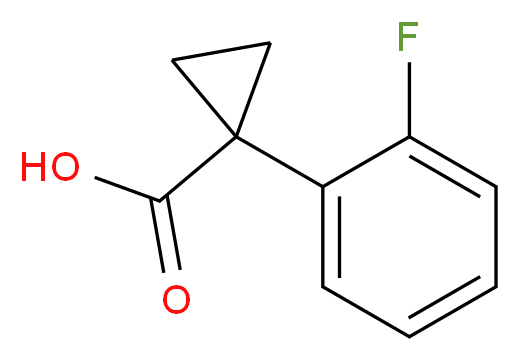 1-(2-fluorophenyl)cyclopropane-1-carboxylic acid_分子结构_CAS_306298-00-0