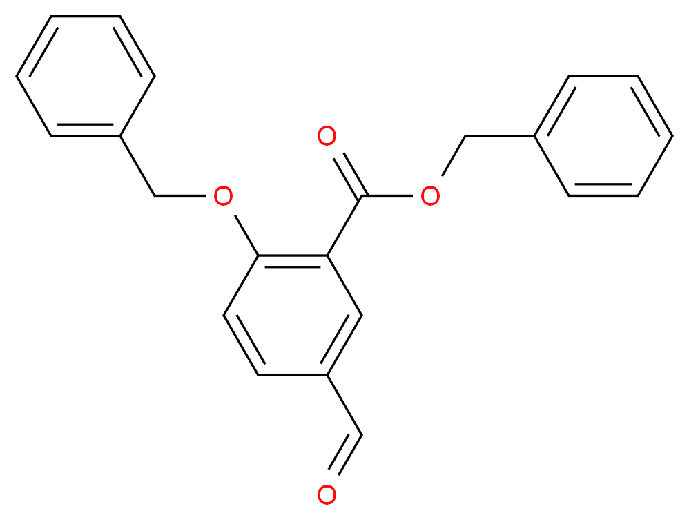 Benzyl 2-Benzyloxy-5-formylbenzoate_分子结构_CAS_150258-60-9)