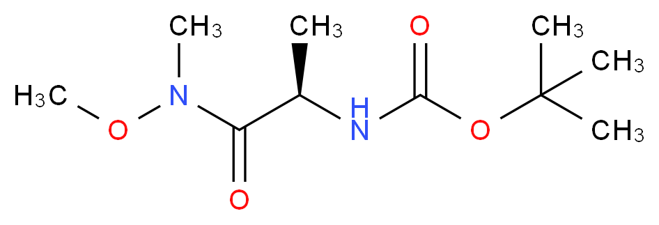 tert-butyl N-[(1R)-1-[methoxy(methyl)carbamoyl]ethyl]carbamate_分子结构_CAS_146553-06-2