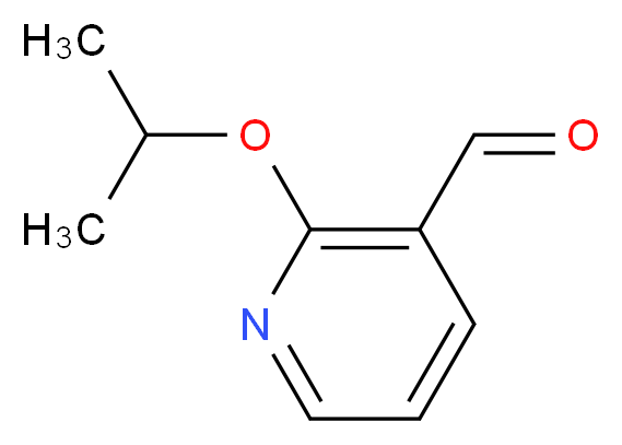 2-(propan-2-yloxy)pyridine-3-carbaldehyde_分子结构_CAS_885278-10-4