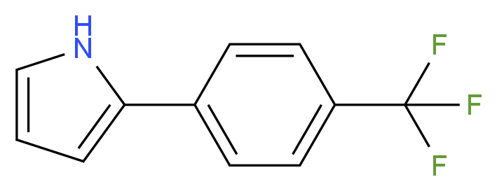 2-[4-(trifluoromethyl)phenyl]-1H-pyrrole_分子结构_CAS_92636-38-9