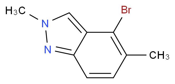4-Bromo-2,5-dimethyl-2H-indazole_分子结构_CAS_1159511-89-3)