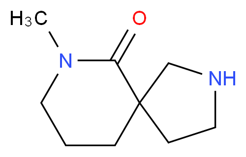 7-methyl-2,7-diazaspiro[4.5]decan-6-one_分子结构_CAS_)