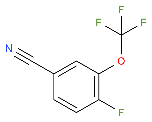 4-fluoro-3-(trifluoromethoxy)benzonitrile_分子结构_CAS_886501-14-0