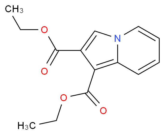 1,2-diethyl indolizine-1,2-dicarboxylate_分子结构_CAS_14174-98-2