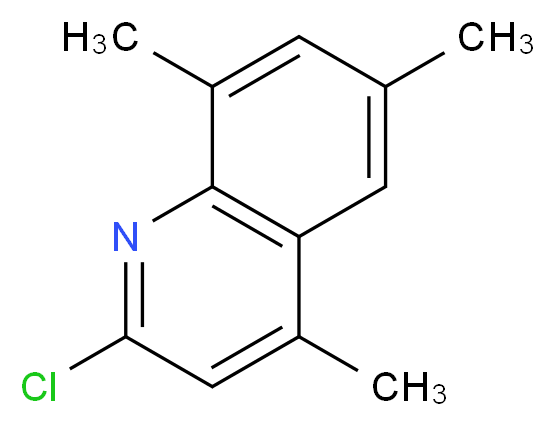 2-chloro-4,6,8-trimethylquinoline_分子结构_CAS_139719-24-7