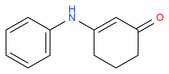 3-(phenylamino)cyclohex-2-en-1-one_分子结构_CAS_24706-50-1