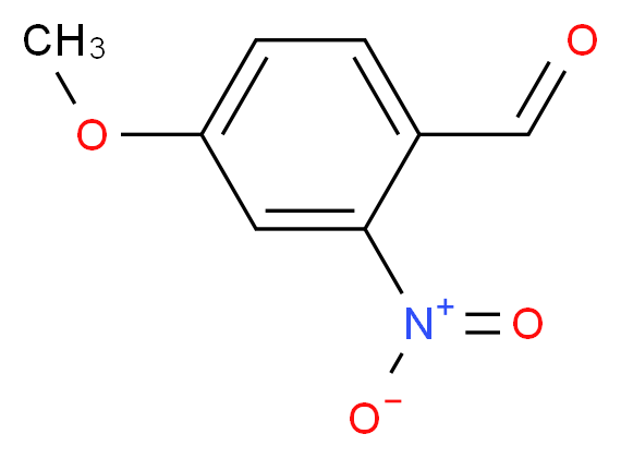 4-methoxy-2-nitrobenzaldehyde_分子结构_CAS_22996-21-0