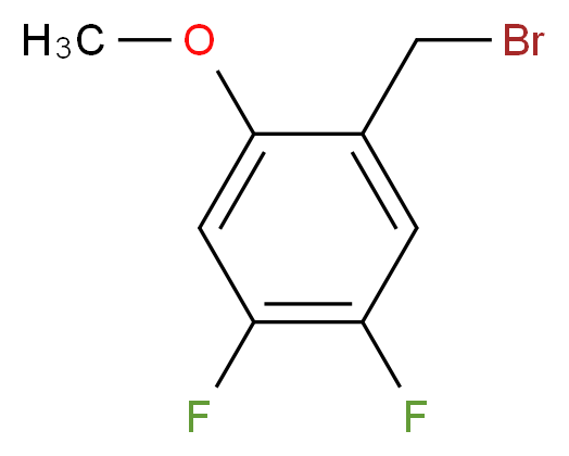 1-(bromomethyl)-4,5-difluoro-2-methoxybenzene_分子结构_CAS_886499-64-5