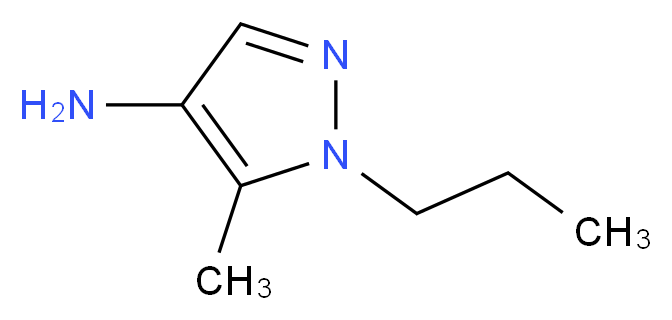 5-methyl-1-propyl-1H-pyrazol-4-amine_分子结构_CAS_)