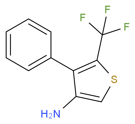 4-phenyl-5-(trifluoromethyl)thiophen-3-amine_分子结构_CAS_256427-77-7