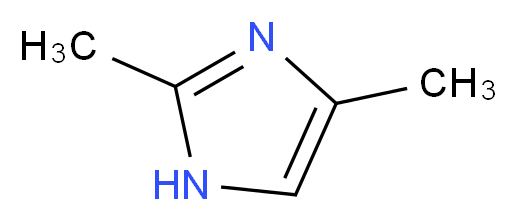 2,4-Dimethylimidazole_分子结构_CAS_930-62-1)