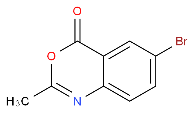 6-bromo-2-methyl-4H-3,1-benzoxazin-4-one_分子结构_CAS_19165-25-4