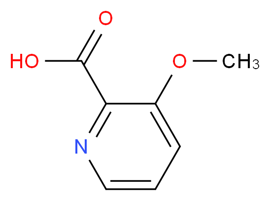 3-Methoxypicolinic acid_分子结构_CAS_16478-52-7)