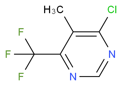 4-chloro-5-methyl-6-(trifluoromethyl)pyrimidine_分子结构_CAS_425394-59-8