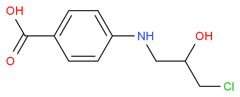 4-[(3-chloro-2-hydroxypropyl)amino]benzoic acid_分子结构_CAS_39083-58-4