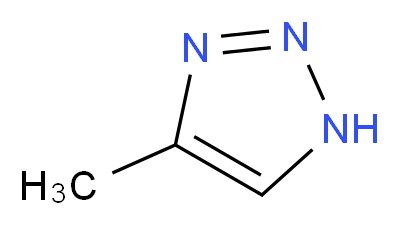 4-methyl-1H-1,2,3-triazole_分子结构_CAS_27808-16-8