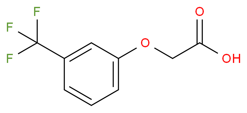 [3-(Trifluoromethyl)phenoxy]acetic acid_分子结构_CAS_349-82-6)
