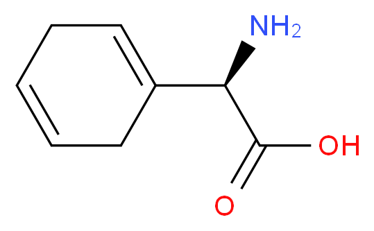 (2R)-2-amino-2-(cyclohexa-1,4-dien-1-yl)acetic acid_分子结构_CAS_26774-88-9