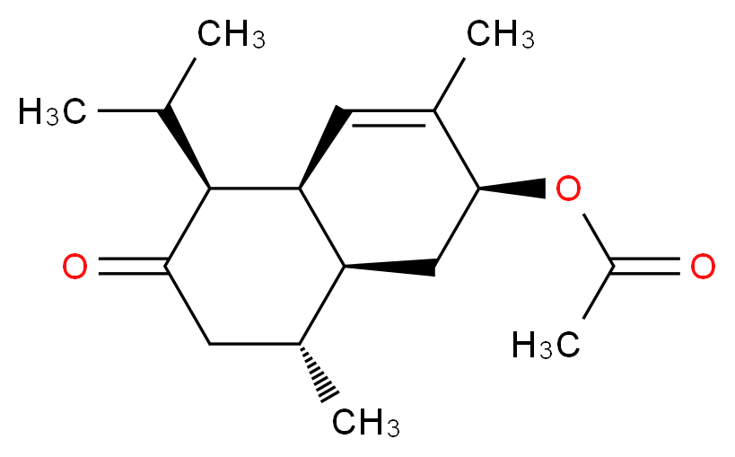(2S,4aR,5S,8R,8aS)-3,8-dimethyl-6-oxo-5-(propan-2-yl)-1,2,4a,5,6,7,8,8a-octahydronaphthalen-2-yl acetate_分子结构_CAS_923950-05-4