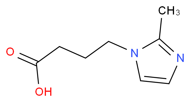 4-(2-Methyl-imidazol-1-yl)-butyric acid_分子结构_CAS_)