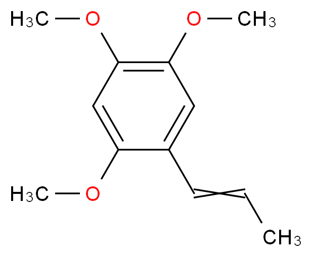1,2,4-trimethoxy-5-(prop-1-en-1-yl)benzene_分子结构_CAS_2883-98-9