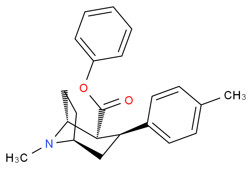 phenyl (1R,2S,3S,5S)-8-methyl-3-(4-methylphenyl)-8-azabicyclo[3.2.1]octane-2-carboxylate_分子结构_CAS_146145-20-2