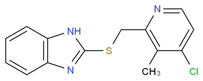 2-((4-choloro-3-methyl-2-pyridinylmethyl)thio)-1h-benzimidazole_分子结构_CAS_103312-62-5)