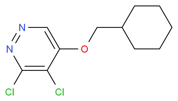 3,4-Dichloro-5-(cyclohexylMethoxy)pyridazine_分子结构_CAS_1346698-18-7)