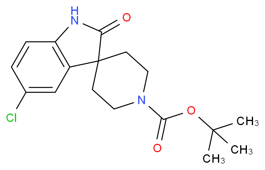 tert-Butyl 5-chloro-2-oxospiro[indoline-3,4'-piperidine]-1'-carboxylate_分子结构_CAS_346701-12-0)