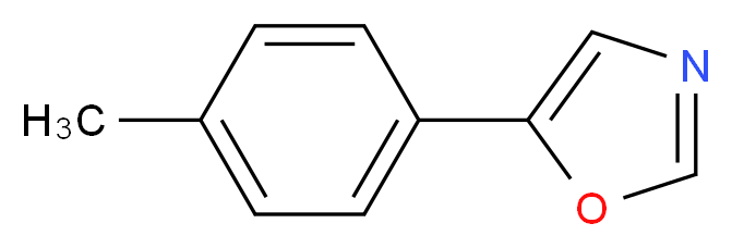 5-(4-methylphenyl)-1,3-oxazole_分子结构_CAS_143659-19-2