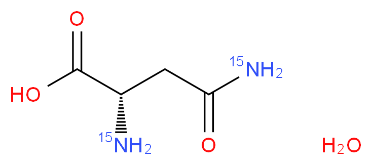 (2S)-2-amino-3-(<sup>1</sup><sup>5</sup>N)carbamoylpropanoic acid hydrate_分子结构_CAS_287484-32-6