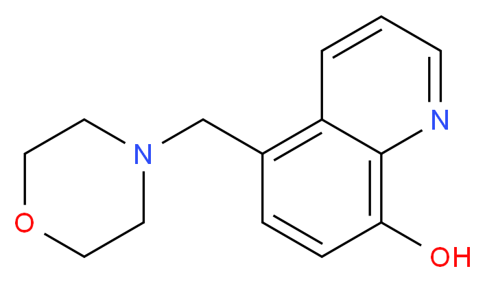 5-(morpholin-4-ylmethyl)quinolin-8-ol_分子结构_CAS_312611-90-8